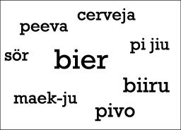 Bier Sprachen