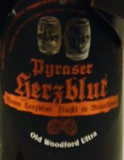 Pyraser Herzblut - Old Woodford Ultra Etikett
