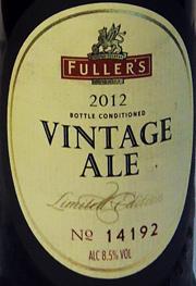 Fullers Vintage 2012 Etikett