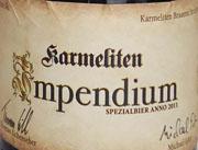 Karmeliten Impendium Etikett