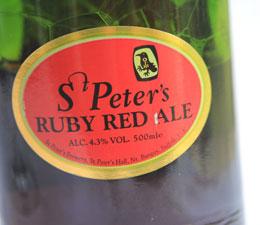 St.Peters Ruby Red Ale Etikett
