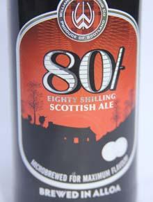 80/- Schilling Etikett