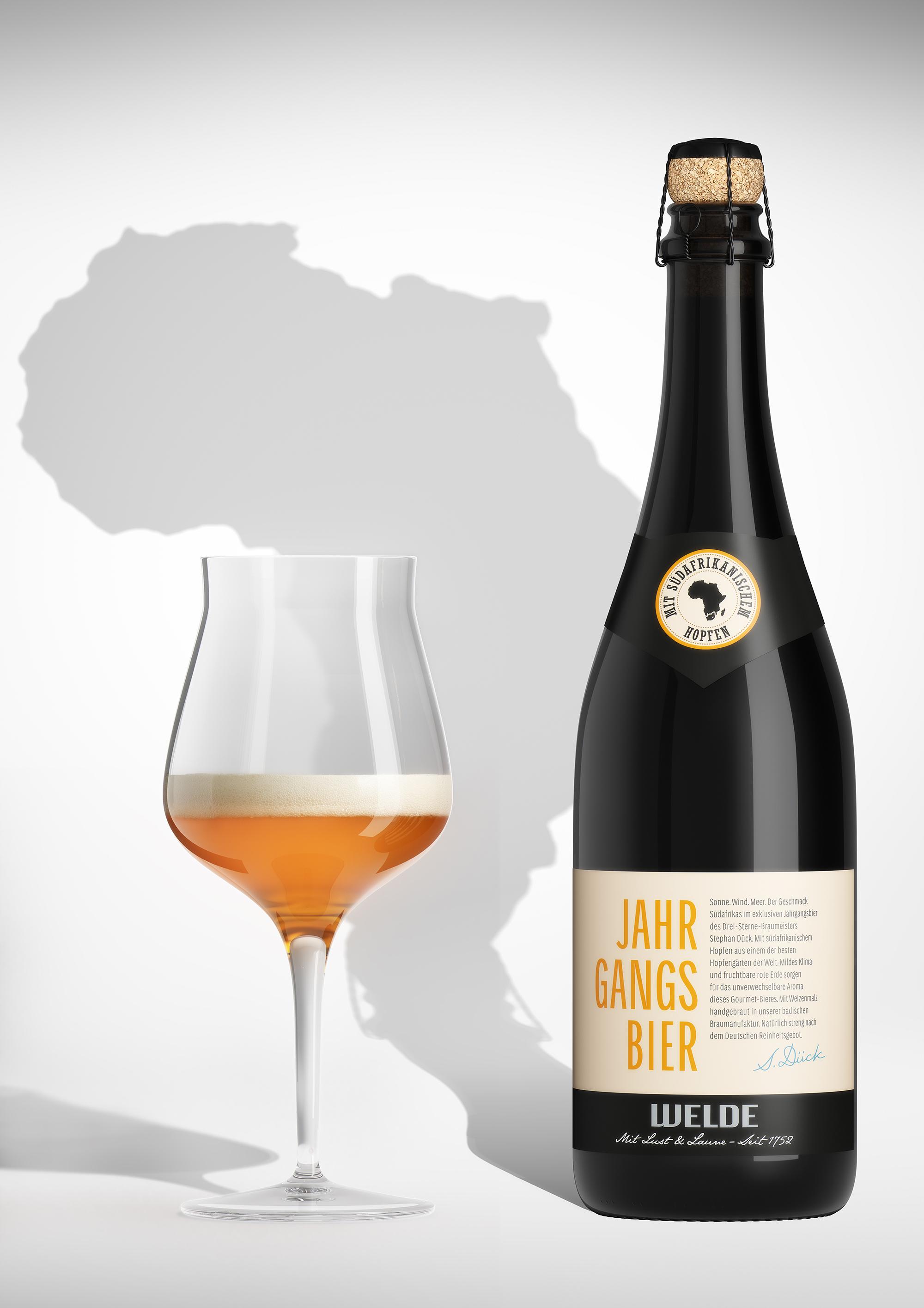 Das neue Welde Jahrgangsbier: Slowbeer aus der Champagnerflasche / ObergŠrig, acht Wochen kŠltegereift, mit sŸdafrikanischem Hopfen