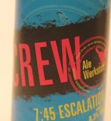 Crew-Ale-Werkstatt-Escalation-Etikett