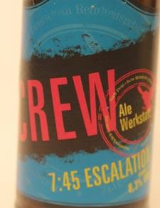 Crew AleWerkstatt Escalation Etikett