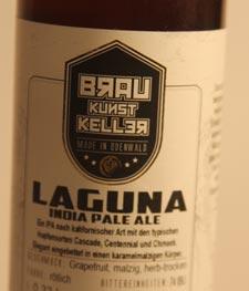 BrauKunstKeller Laguna IPA Etikett