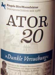 Riegele Ator20 Etikett