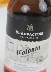 BraufactuM Colonia Etikett