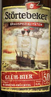 Störtebeker Glüh-Bier Etikett