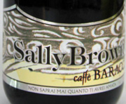 Sally Brown Stout Etikett