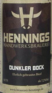 Hennings Dunkler Bock Etikett