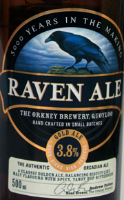 The Orkney Brewery Raven Ale Etikett