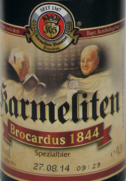 Karmeliten Brocardus 1844 Etikett