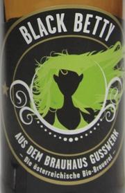 Brauhaus Gusswerk Black Betty Etikett