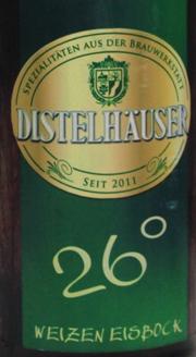 Distelhäuser 26° Weizen-Eisbock Etikett