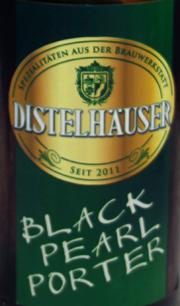 Distelhäuser Black Pearl Porter Etikett