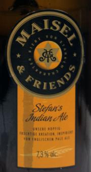 Stefan's Indian Ale Etikett
