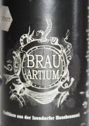 Isendorfer Brauartium Stout Etikett