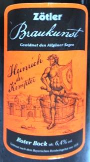 Heinrich der Kempter Etikett