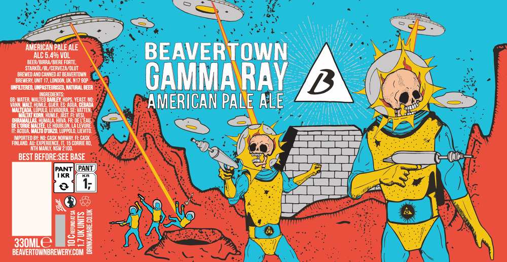 Beavertown Gammaray Pale Ale Etikett