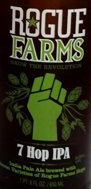 Rogue Farms 7 Hop IPA Etikett