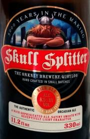 Skull Splitter Etikett
