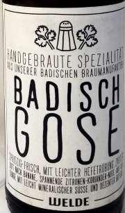 Welde badisch Gose Etikett