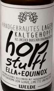 Welde hop stuff Etikett