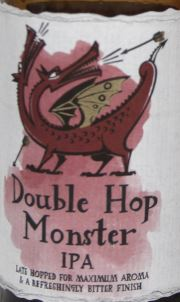Double Hop Monster IPA Etikett