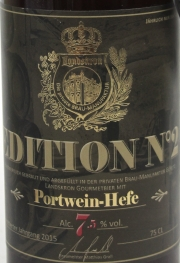 Landskron Edition No. 2 Portwein Hefe Etikett