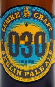 Lemke 030 Pale Ale Etikett