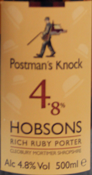 Postmans Knock Hobsons Rich Ruby Porter