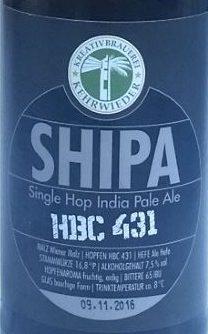 SHIPA HBC431 Etikett