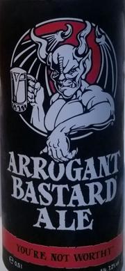arrogant bastard ale etikett