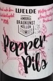 Welde & Himburgs Braukunstkeller - Pepper Pils Etikett
