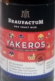 Braufactum Yakeros Etikett
