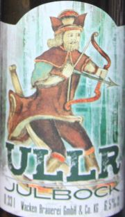 ULLR JULBOCK Etikett