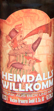 HEIMDALLS WILLKOMM  Etikett