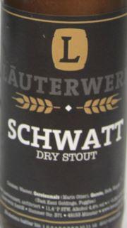 Läuterwerk Schwatt Dry Stout Etikett