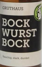 Gruthaus Bockwurst Bock Etikett