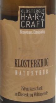 Harz Craft Klosterkrug Etikett