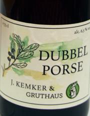 Kemker & Gruthaus Dubbel Porse Etikett