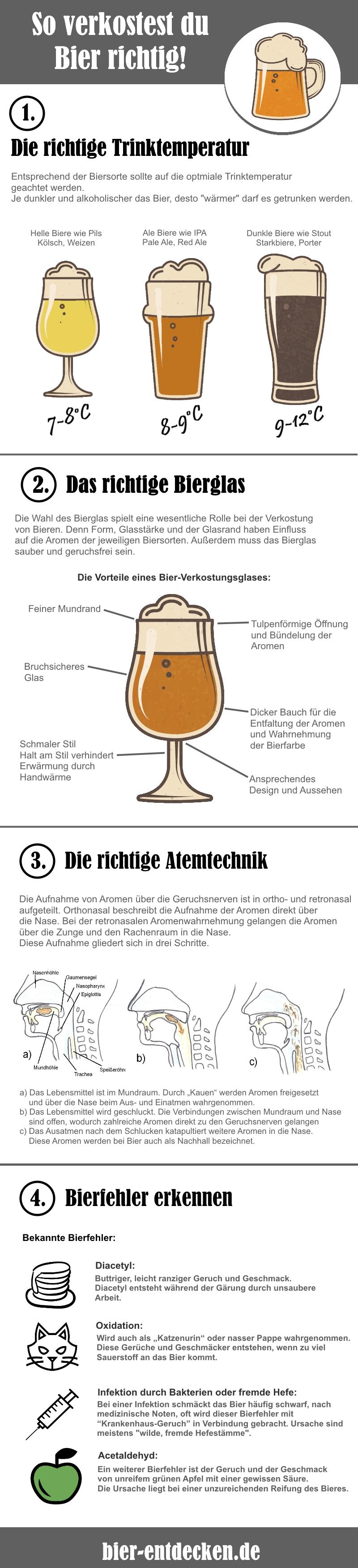 Fehler bei der Bierverkostung vermeiden. Unsere Tipps