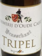D`Oude Caert Tripel Etikett