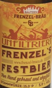 Frenzel Festbier Etikett