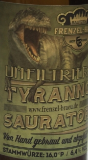 Frenzel Tyrano Saurator Etikett