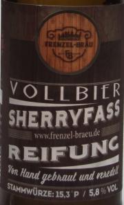 Frenzels Sherryfass Etikett