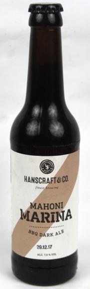 Mahoni Marina BBQ Dark Ale Etikett