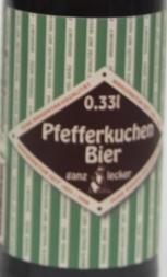 Pfefferkuchen-Bier Etikett