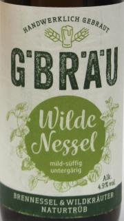 G. Bräu Wilde Nessel Etikett